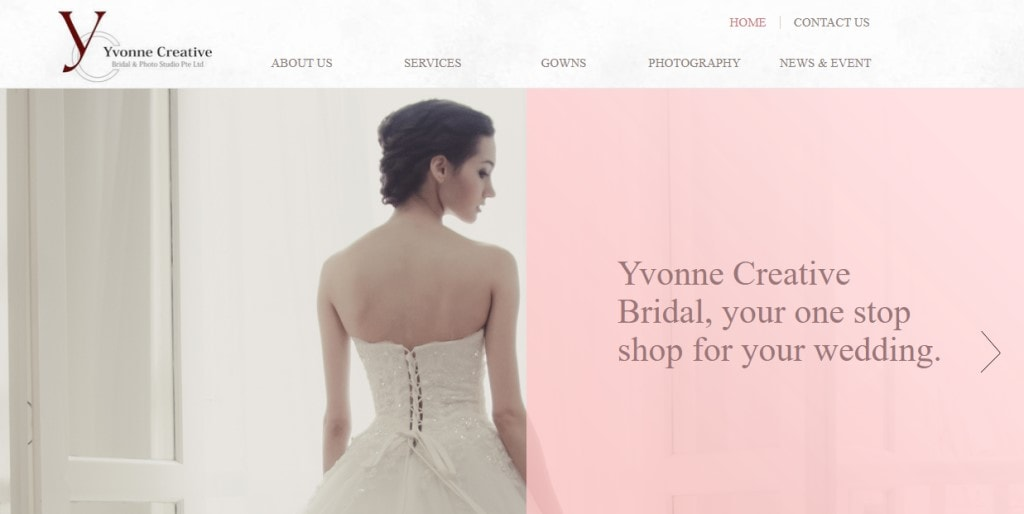 Yvonne creative Top Bridal Services in Singapore