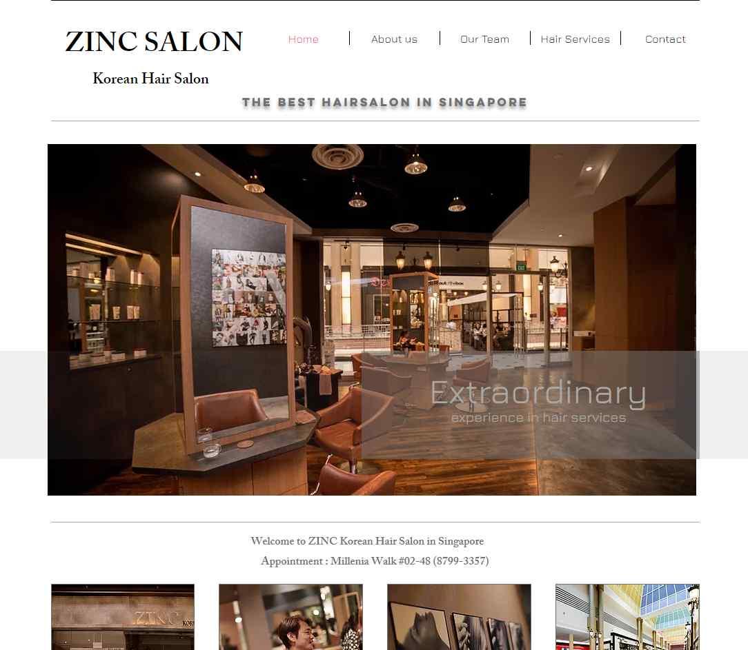 Zinc Salon Top Hair Rebonding Salons in Singapore