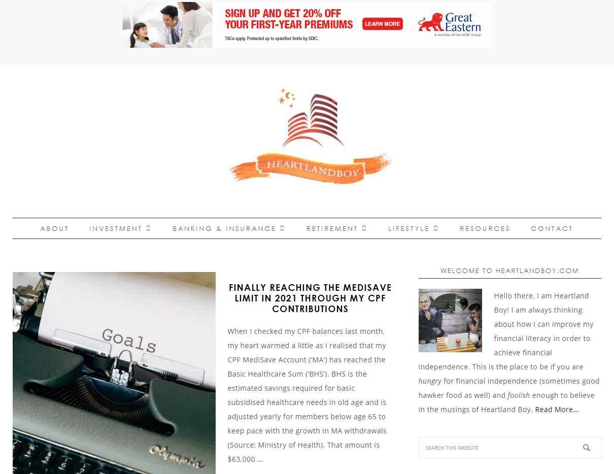 heartland boy Top Finance Blogs in Singapore