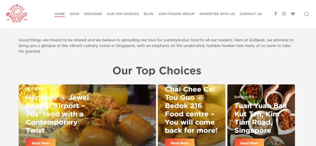 i Eat and Eat Top Food Blogs in Singapore