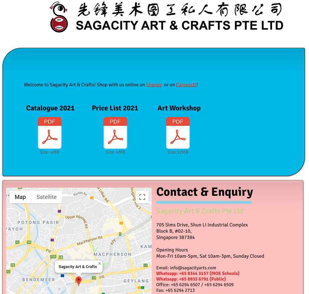 saga city Top Art Supplies Stores In Singapore