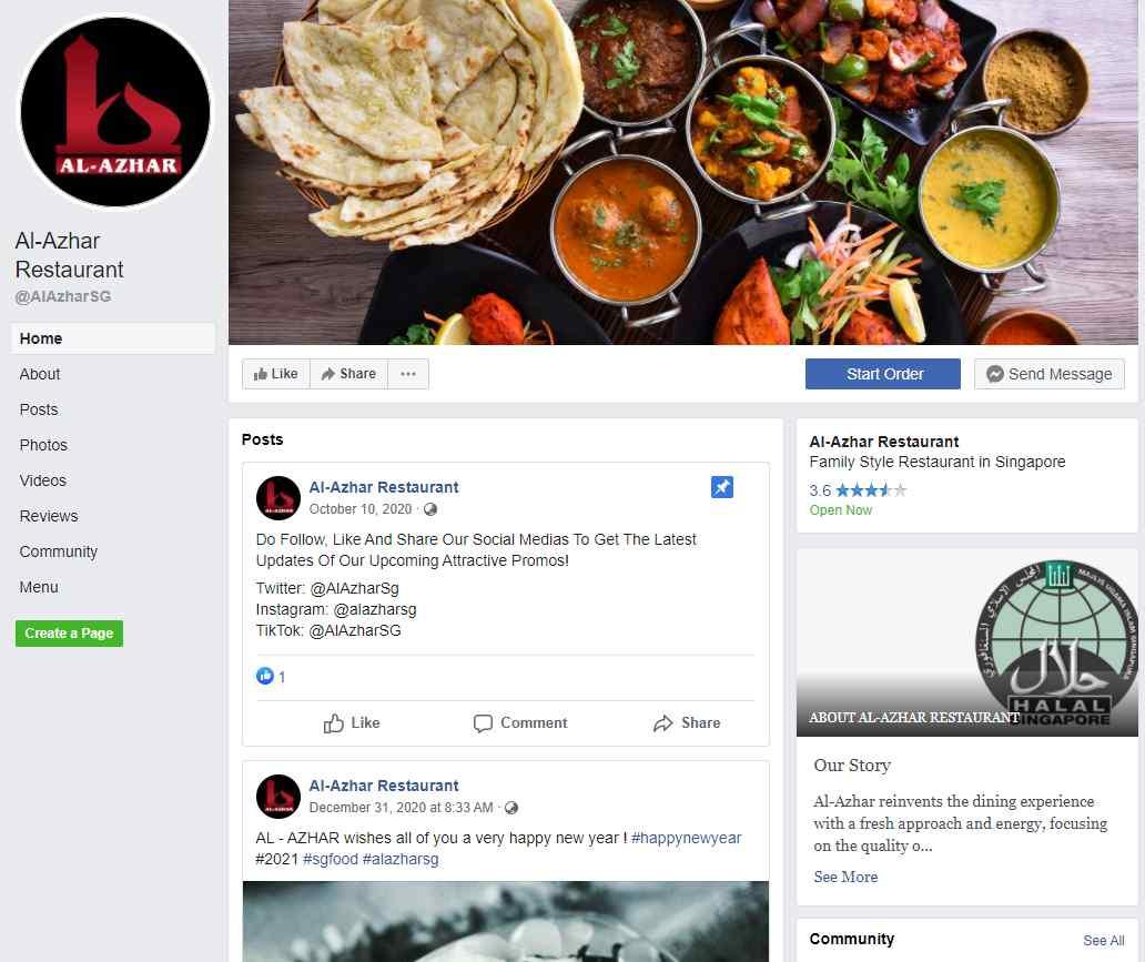 Al Azhar Top Halal Food Delivery Services in Singapore