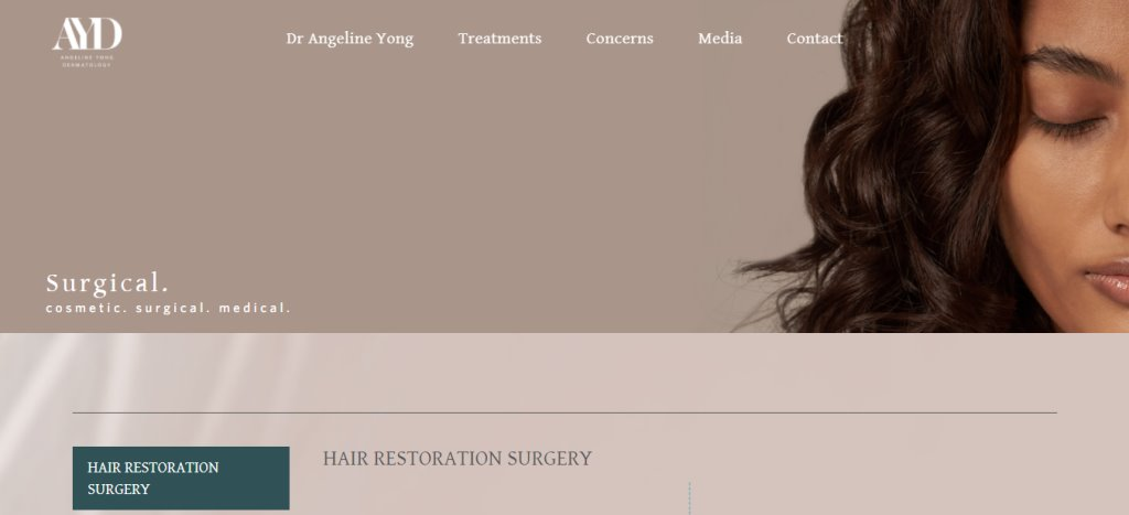 Angeline Yong Top Hair Transplant Clinics in Singapore