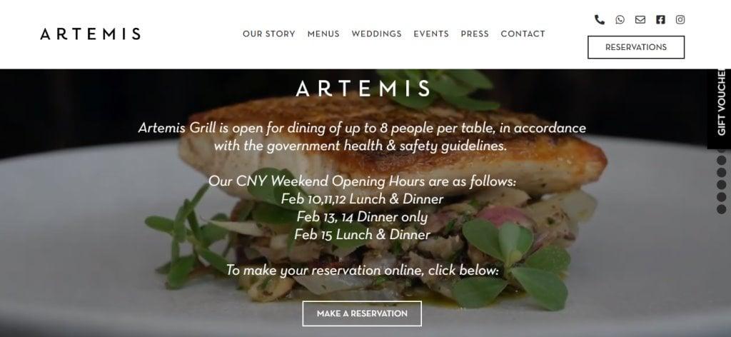 Artemis Grill Top Greek Restaurants in Singapore
