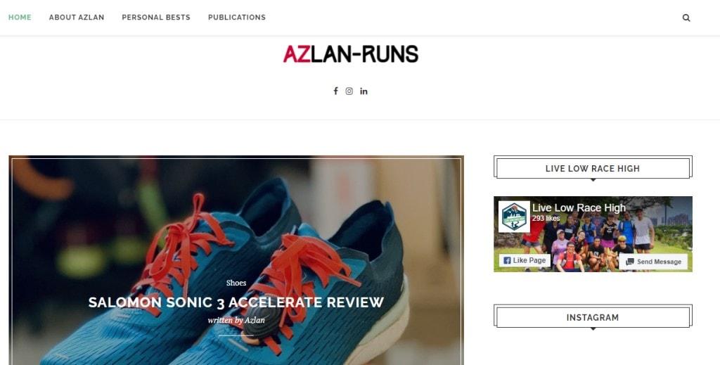 Azlan Runs Top Fitness Blogs in Singapore