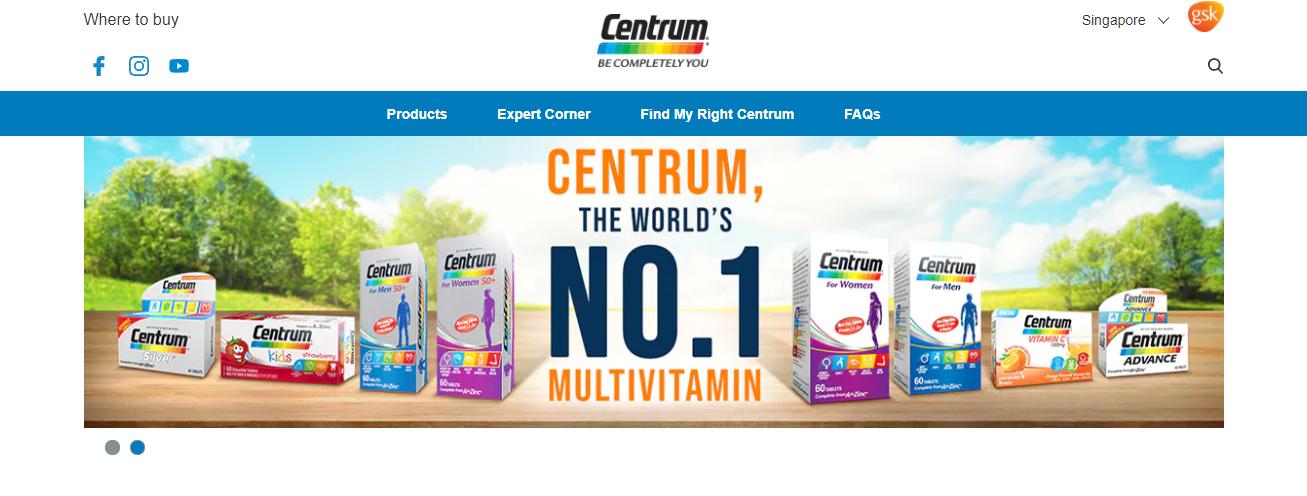 Centrum Top Multivitamin Stores in Singapore