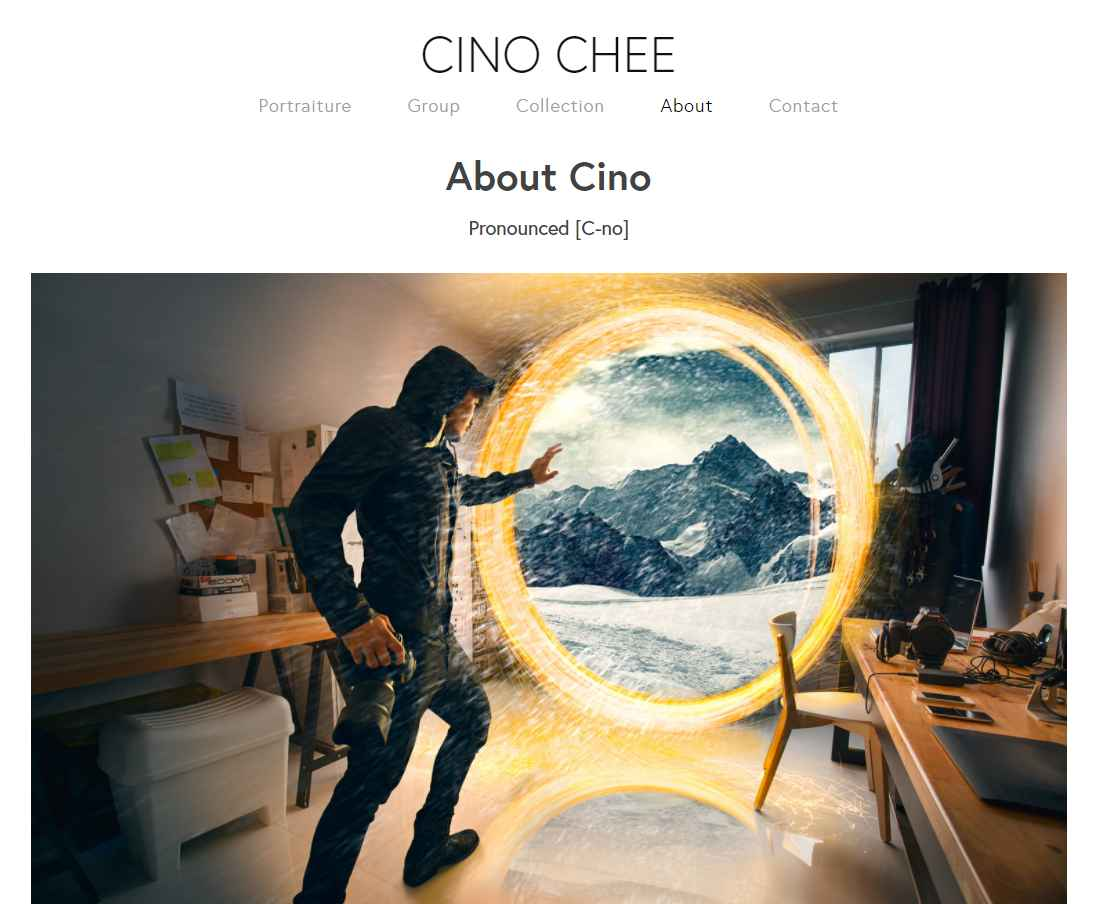 Cino Chee Top Portrait Photography Studios in Singapore