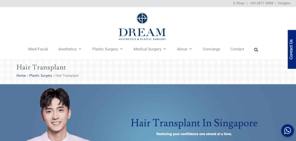 DReam Aesthetic Top Hair Transplant Clinics in Singapore
