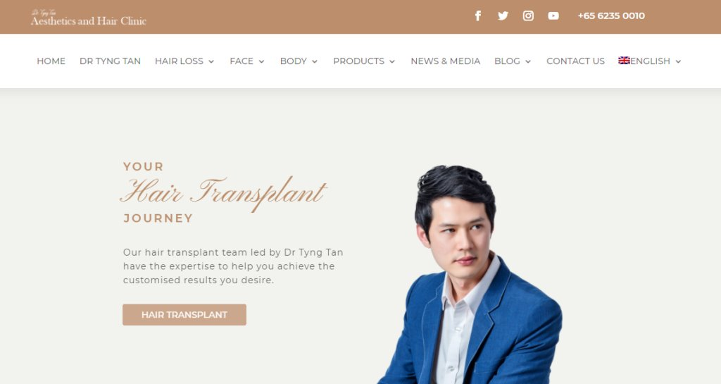 Dr Tyng Tan Top Hair Transplant Clinics in Singapore