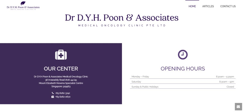 Dr. DYH Poon Top Haematologists in Singapore