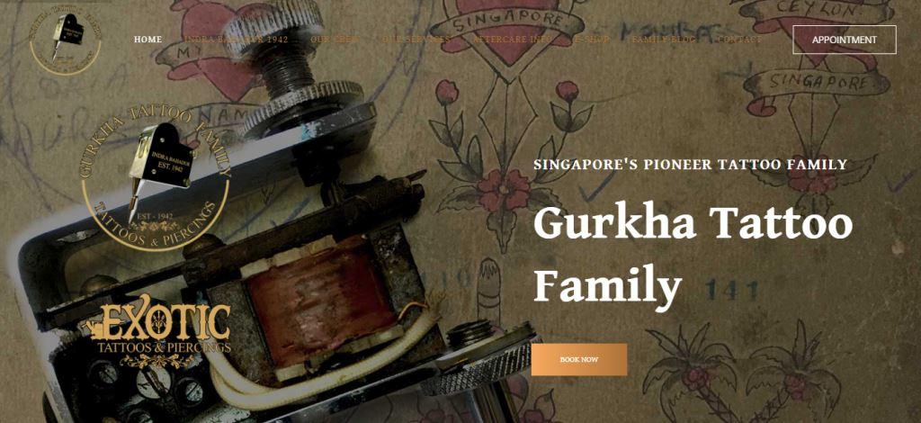 Gurkha Tattoo Top Piercing Parlours in Singapore
