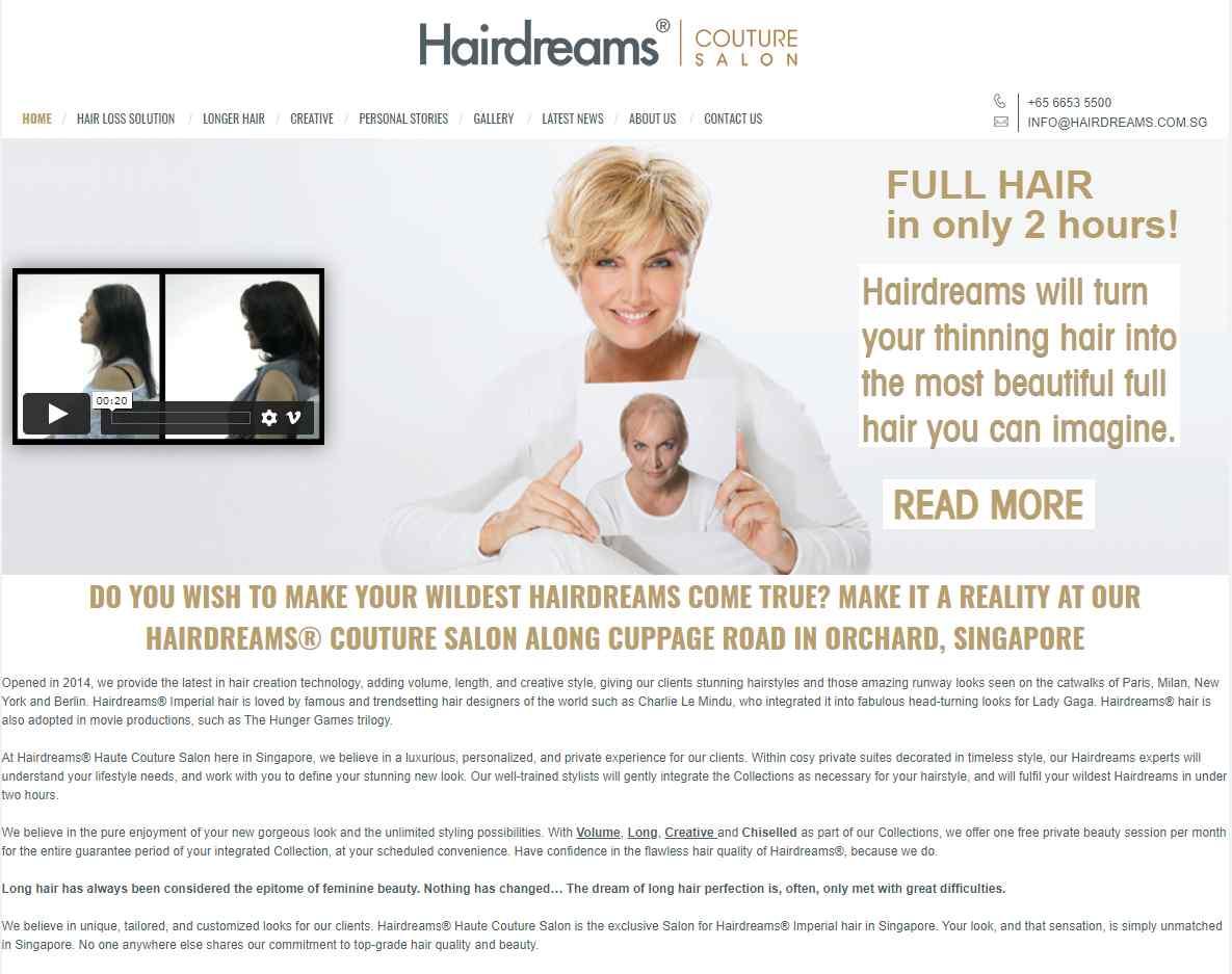 Hair Dreams Top Hair Loss Treatment Clinics in Singapore