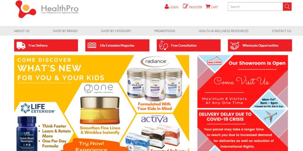 Health Pro Top Multivitamin Stores in Singapore