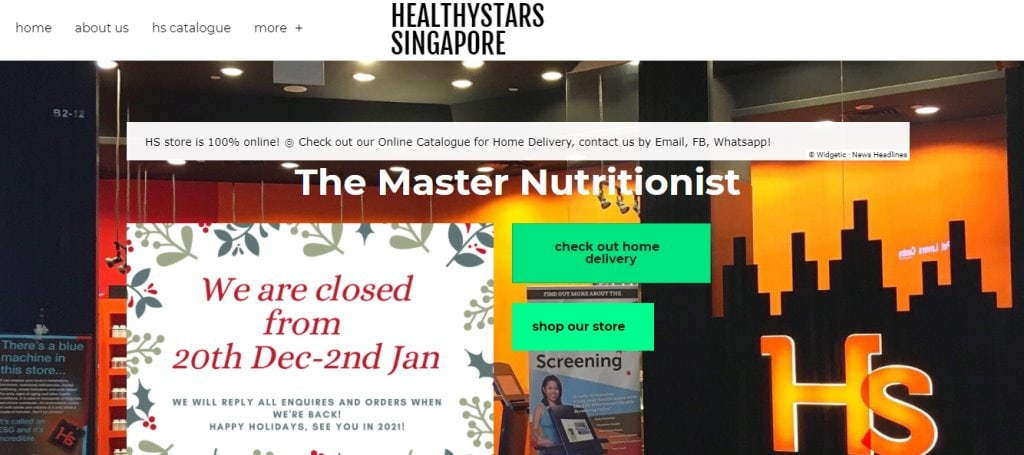 Healthy Stars Top Health Supplement Stores in Singapore