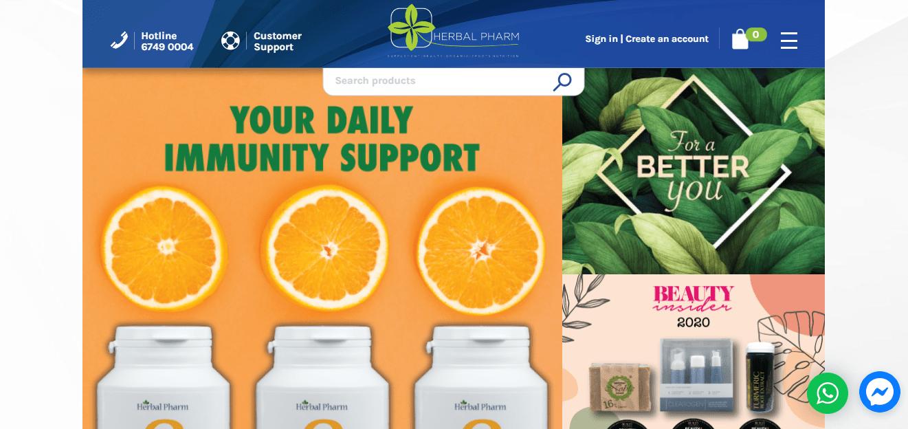 Herbal Pharm Top Multivitamin Stores in Singapore