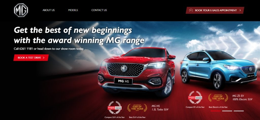 MG Top Electric Car Retailers in Singapore