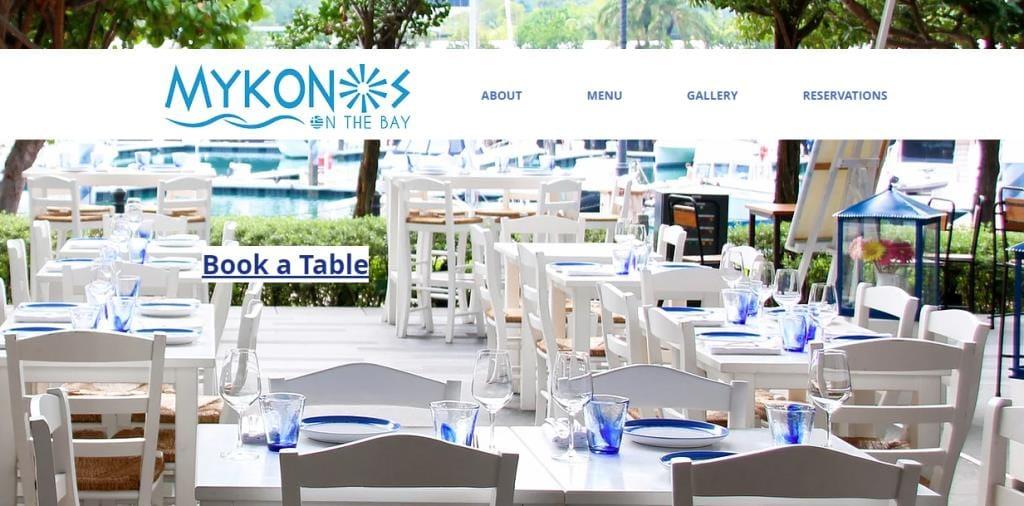 Mykon Top Greek Restaurants in Singapore