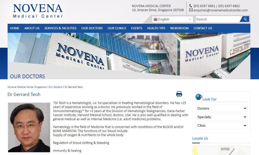 Novena Top Haematologists in Singapore