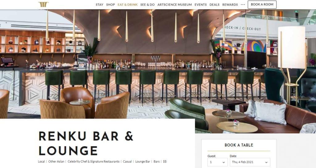 Renku Bar Top High Tea Places in Singapore