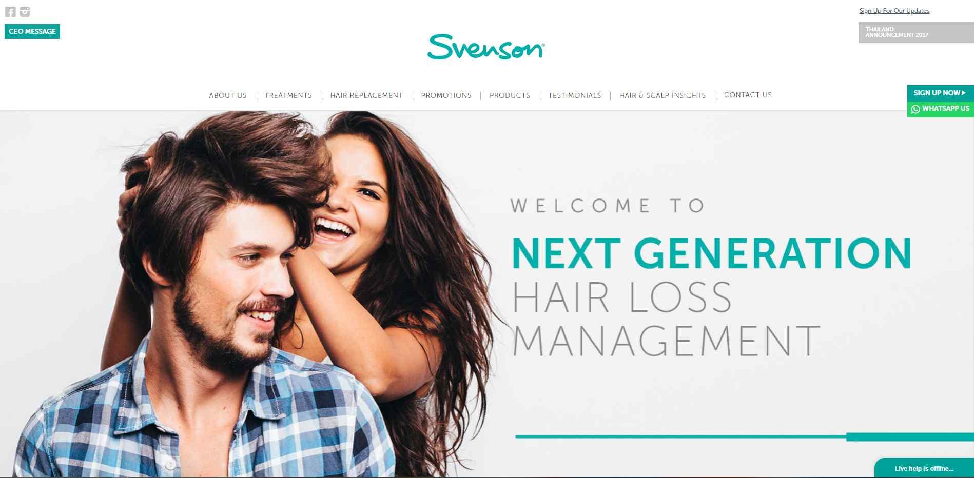 Svenson hair Top Hair Loss Treatment Clinics in Singapore