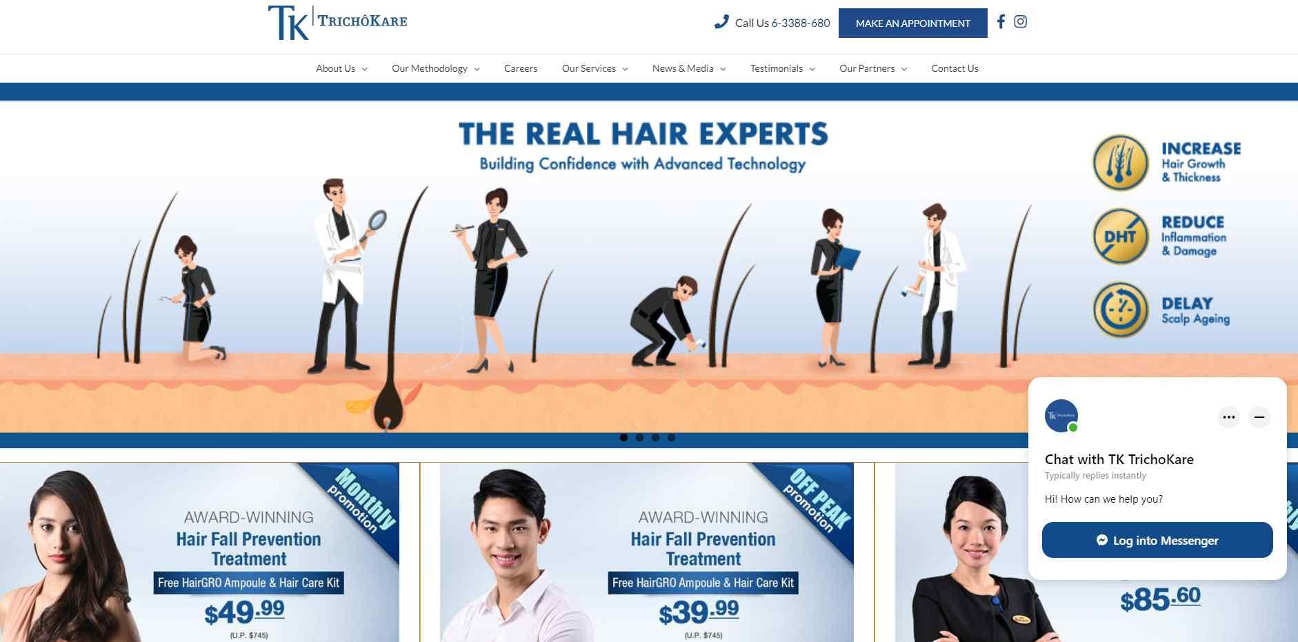 TK Top Hair Loss Treatment Clinics in Singapore