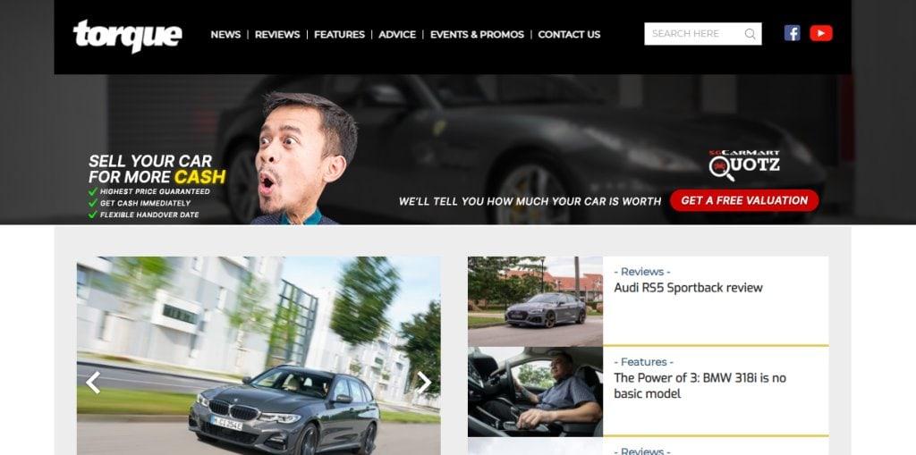 Torque Top Auto Blogs in Singapore