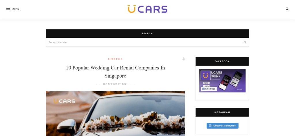 U Cars Top Auto Blogs in Singapore