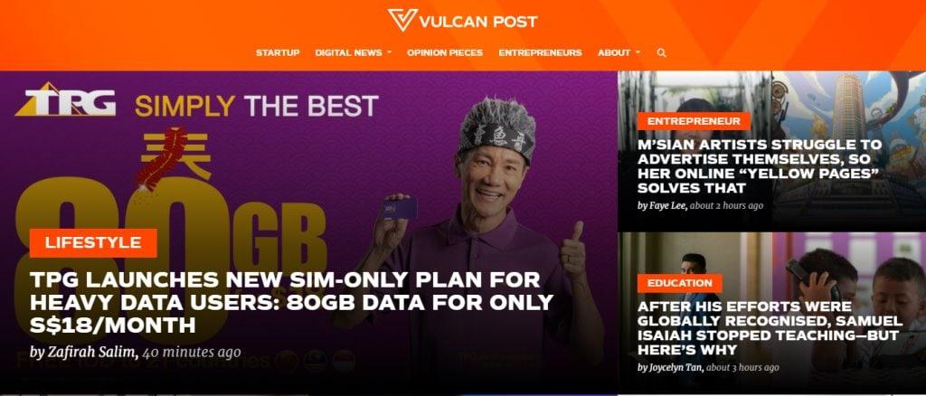 Vulcan Post Top Tech Blogs in Singapore