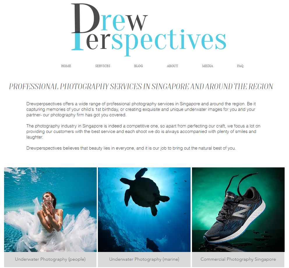 drew perspective Top Portrait Photography Studios in Singapore