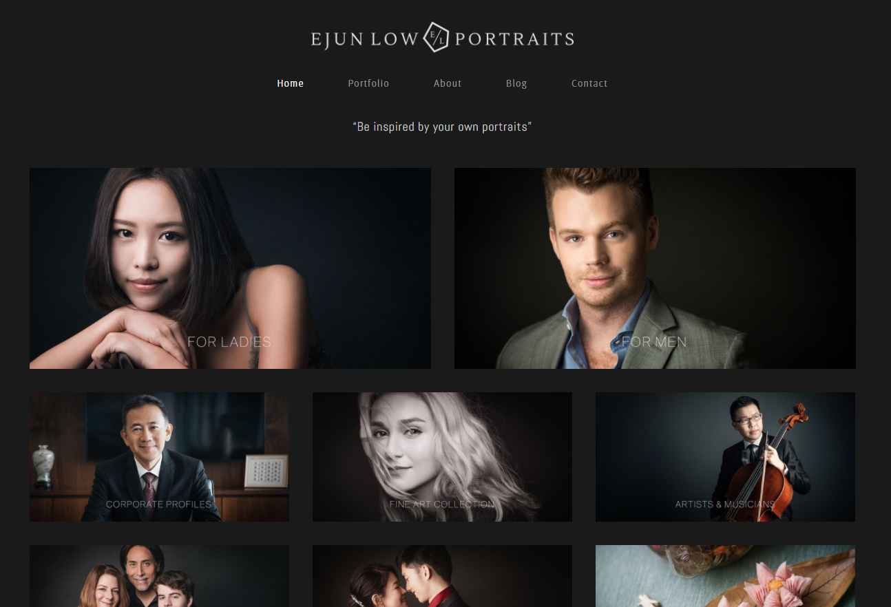 ejun low Top Portrait Photography Studios in Singapore