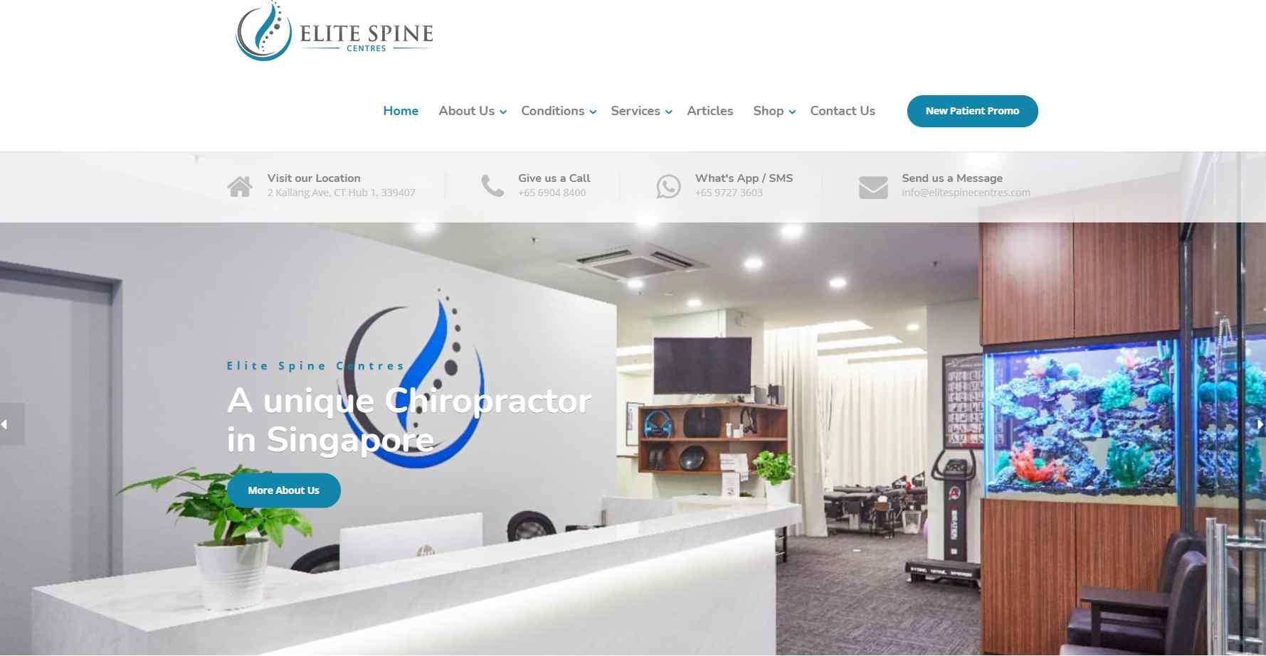 elite spine Top Deep Tissue Massage Services In Singapore