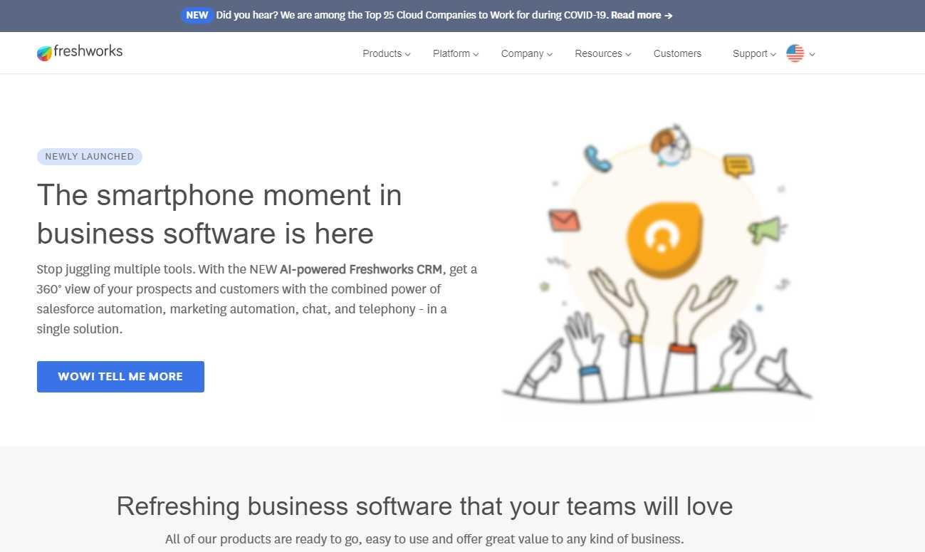 freshworks Top 30 Email Marketing Software