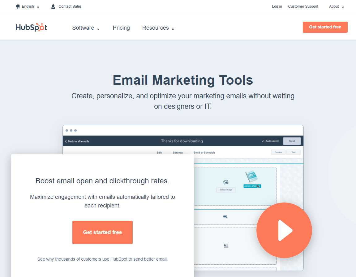 hubspot Top 30 Email Marketing Software