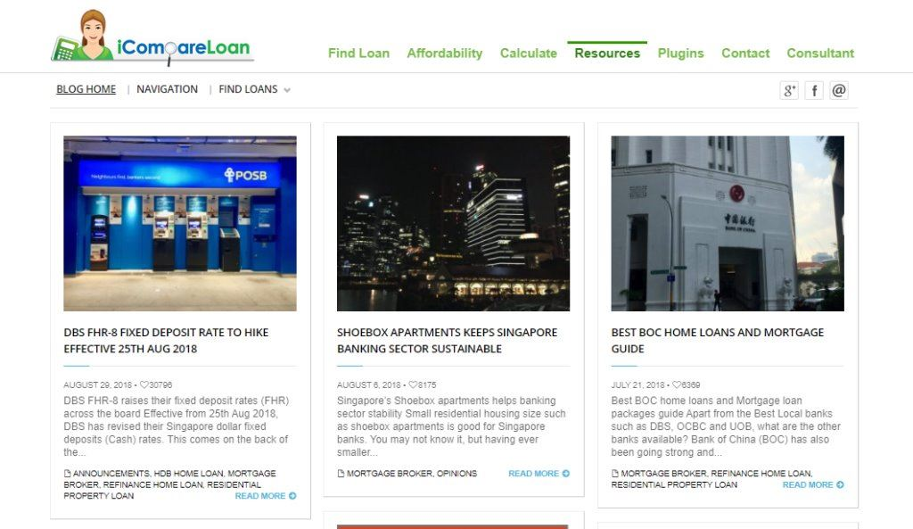 iCompare Loan Top Property Blogs in Singapore