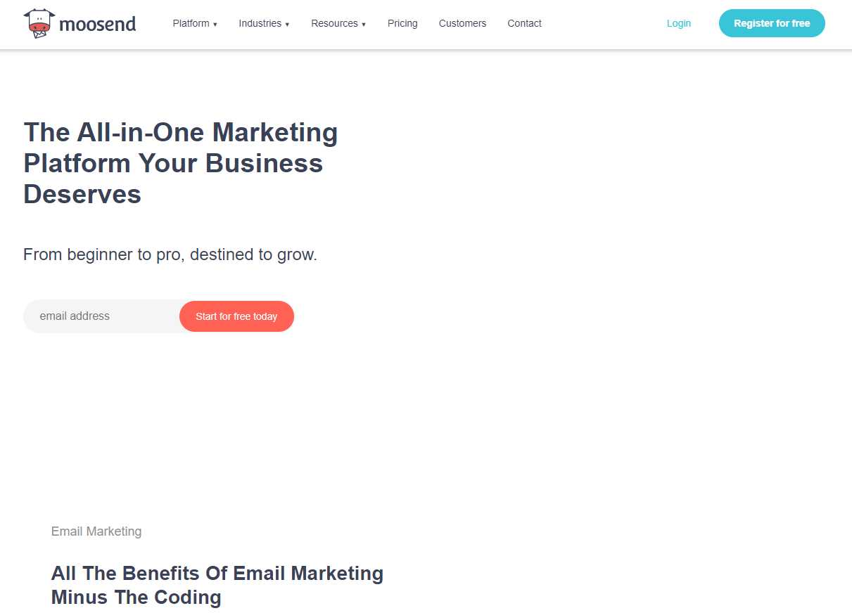 moosend Top 30 Email Marketing Software