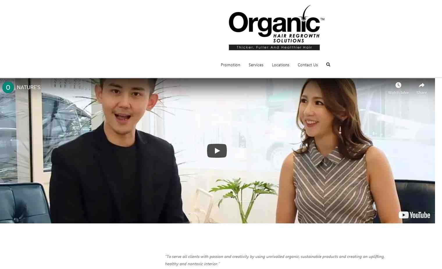organic growth solutions Top Hair Treatment Salons in Singapore