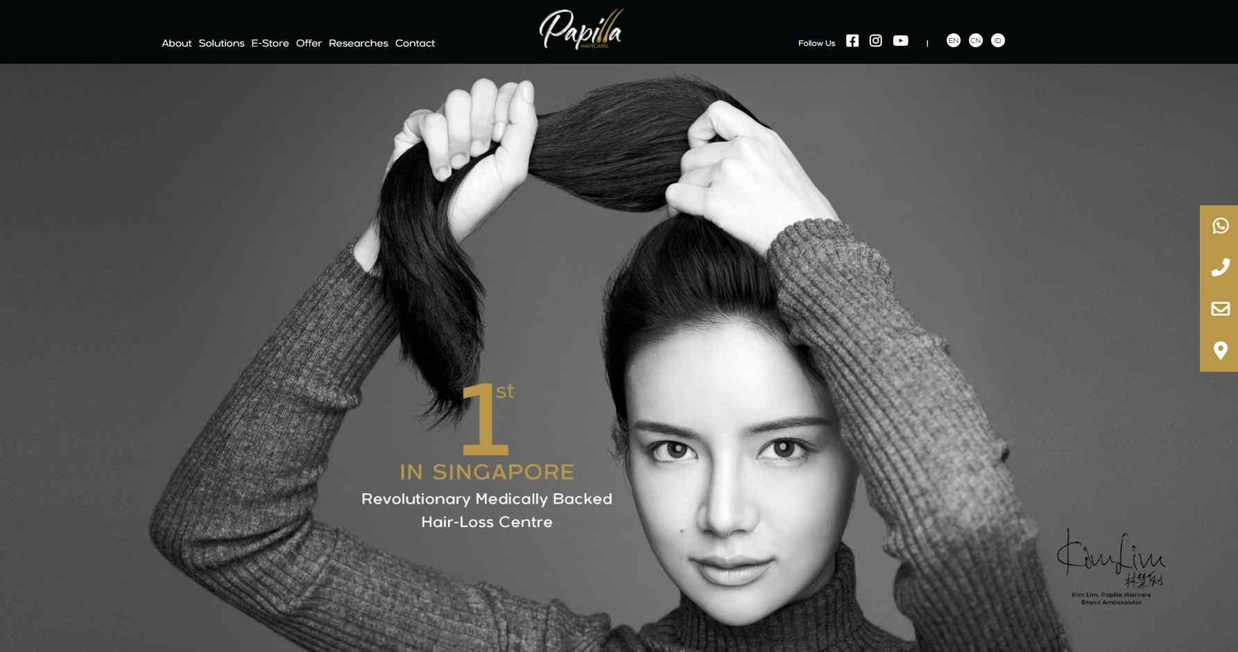papilla Top Hair Loss Treatment Clinics in Singapore