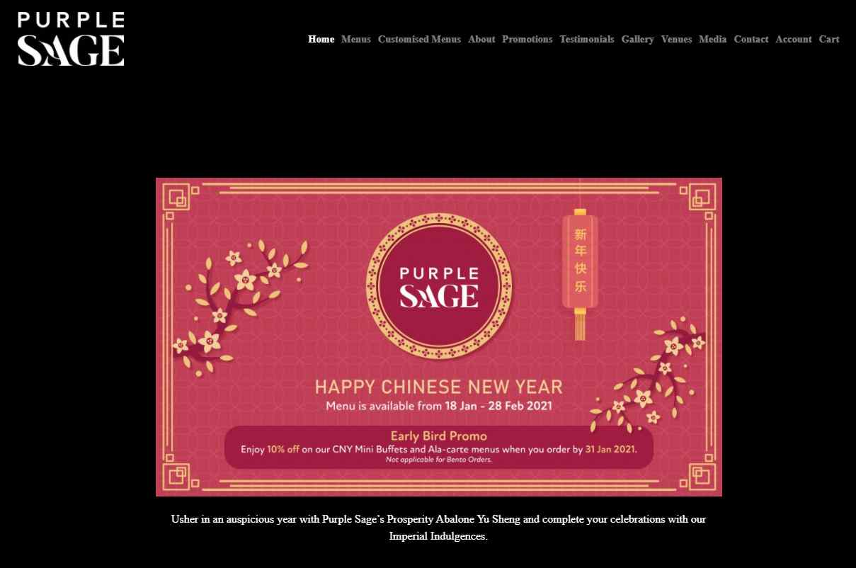 purple sage Top Wedding Caterers in Singapore