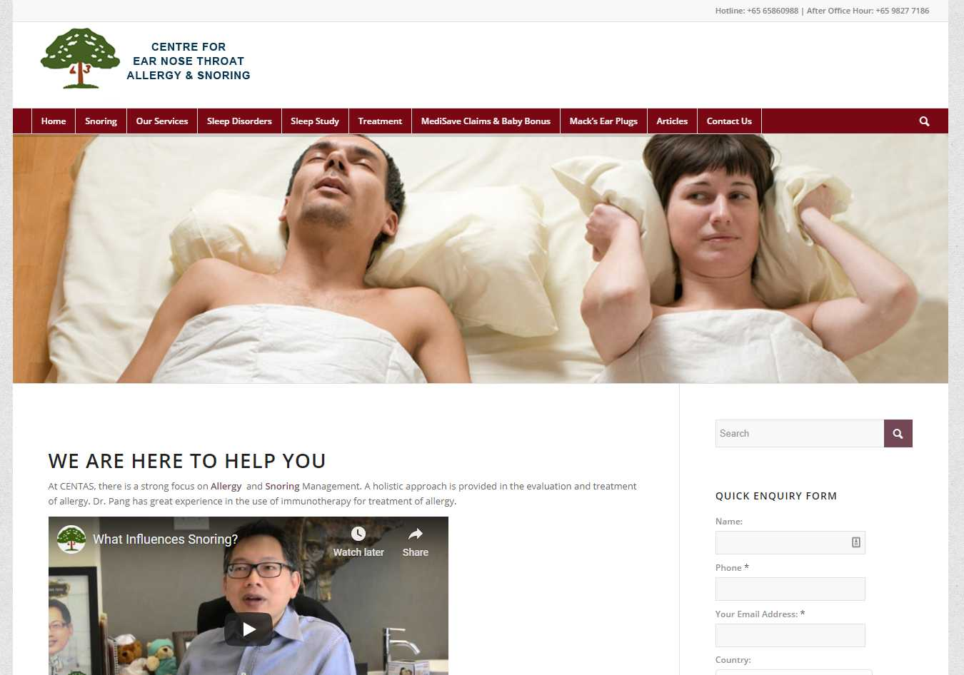 snoring Top Insomnia Treatment Providers in Singapore