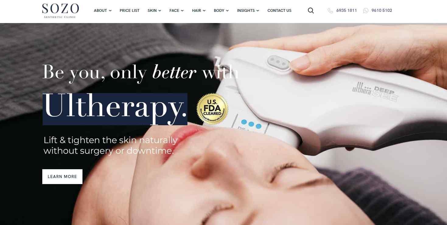 sozo Top Hair Loss Treatment Clinics in Singapore