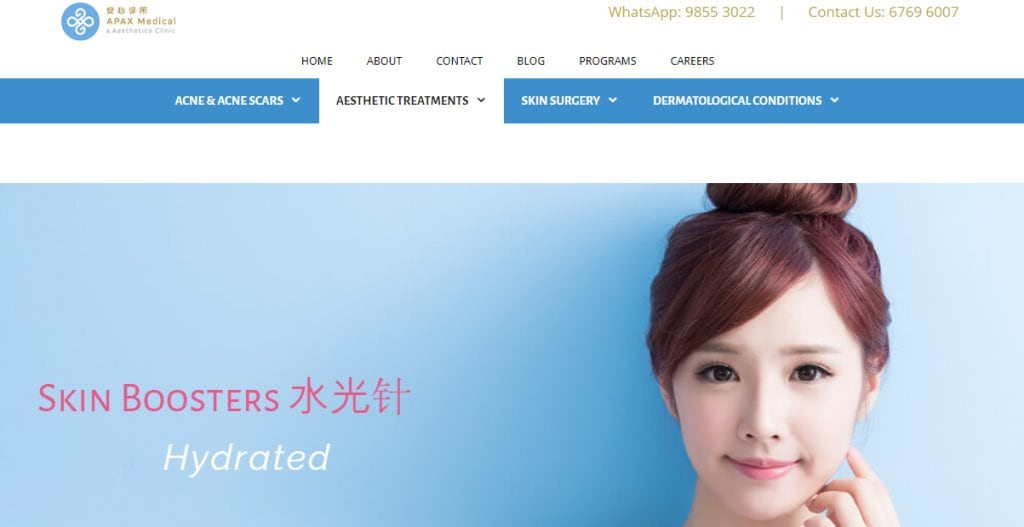 Apax Medical Top Skinboosters Clinics in Singapore
