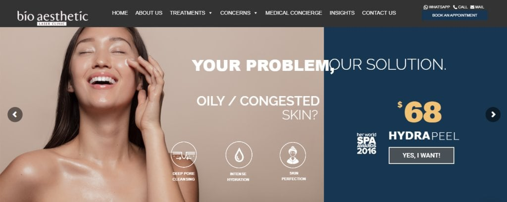 Bio Aesthetic Top Skinboosters Clinics in Singapore