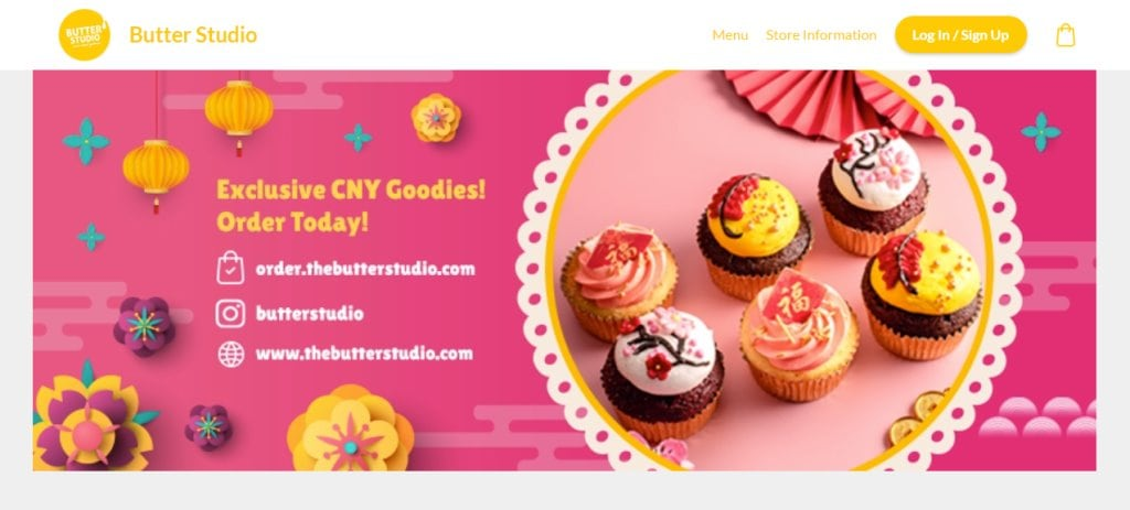 Butter Studio Top Cupcake Deliveries in Singapore