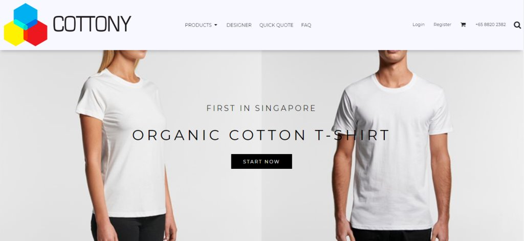 Cottony Top T-Shirt Design Stores in Singapore