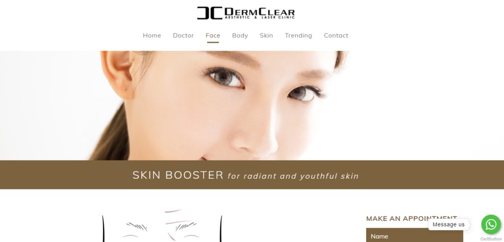 Derm Clear Top Skinboosters Clinics in Singapore