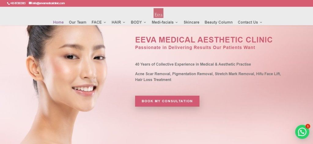 Eeva Medical Top Skinboosters Clinics in Singapore