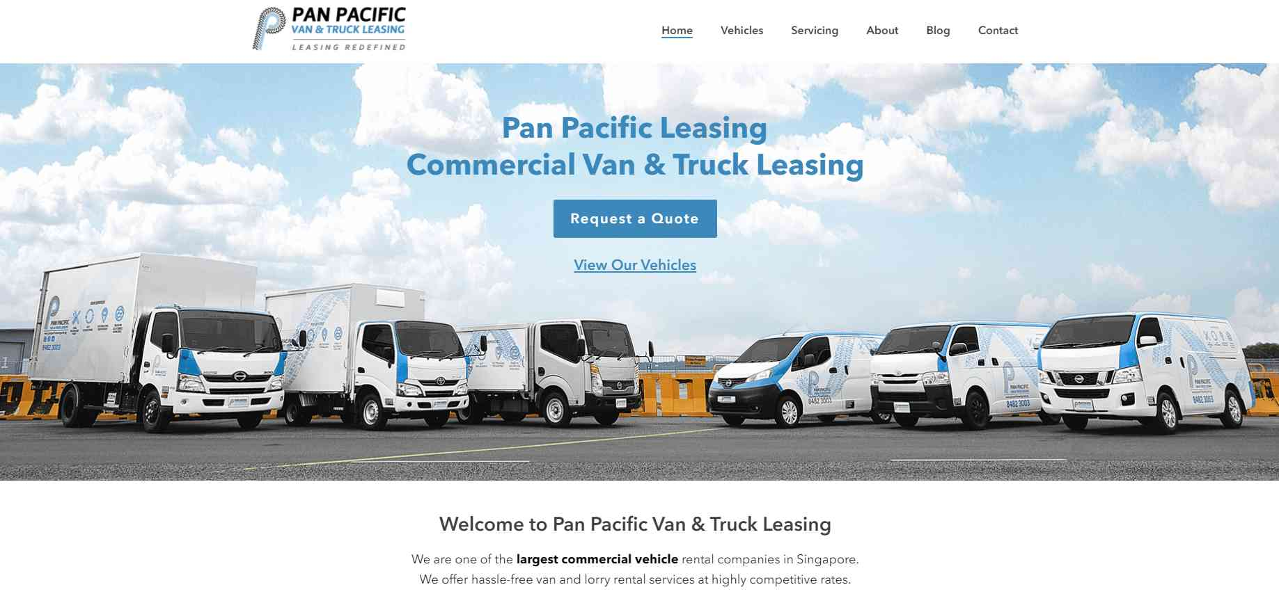 Pan Pacific Top Van Rental Service Providers in Singapore