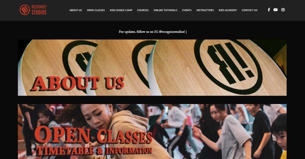 Recognize Studio Top Adult Dance Classes in Singapore