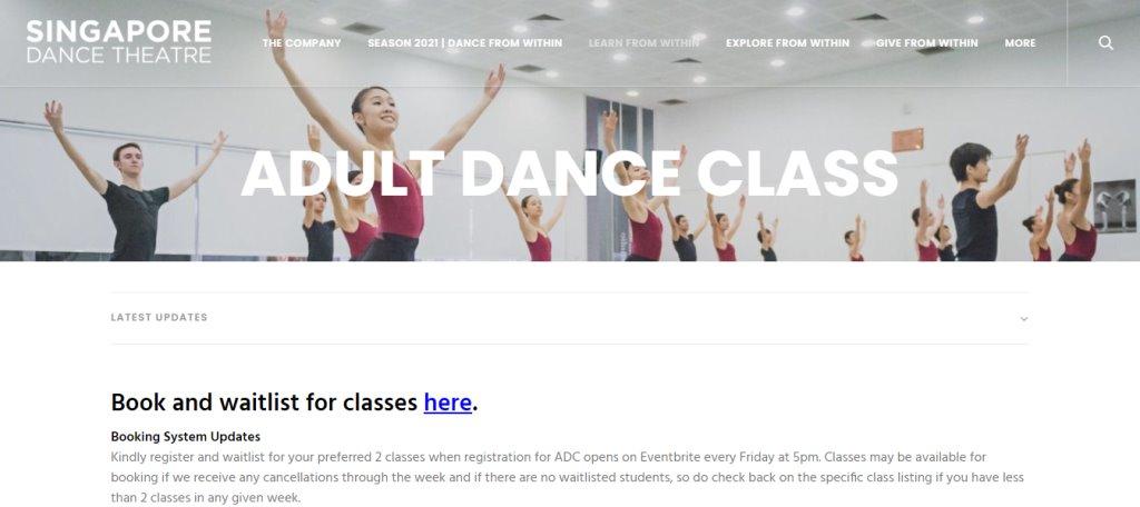 SG Dance Theatre Top Adult Dance Classes in Singapore