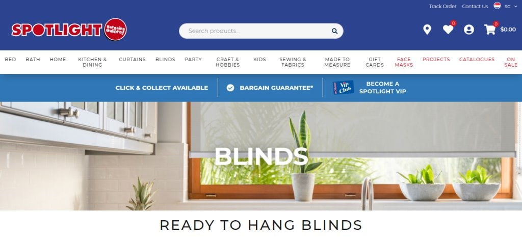 Spotlight Top Blinds Stores in Singapore